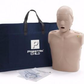 MANICHINO PEDIATRICO MEZZO BUSTO CPR CON INDICATORE LUMINOSO COMPRESSIONI10 VIE AEREE E BORSA TRASPORTO