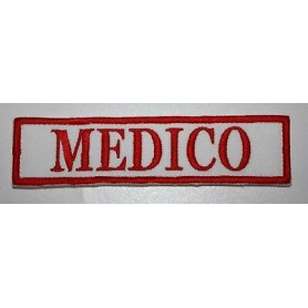 "QUALIFICA ""MEDICO"" 10X3,2 RICAMATA CON VELCRO"