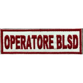 """QUALIFICA """"OPERATORE BLSD"""" 10X3,2 RICAMATA CON VELCRO"""