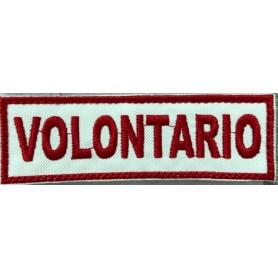"QUALIFICA ""VOLONTARIO"" 10X3,2 RICAMATA CON VELCRO"