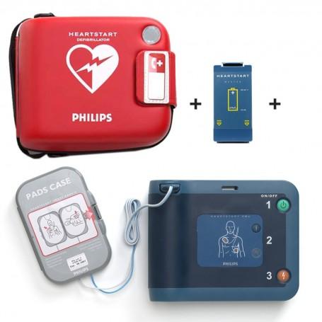 Defibrillatore Philips FRx per adulti + Batteria + Coppia di elettrodi SMART+ Valigetta