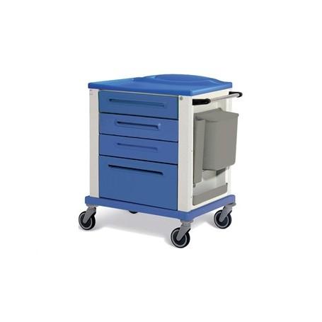 CARRELLO BASIC - piccolo - 4 cassetti - blu