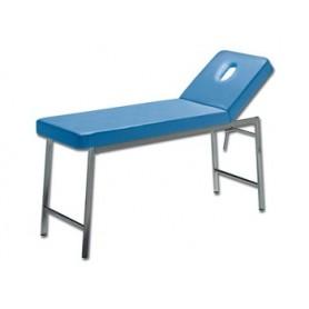 LETTINO CLASSICO VISITA - cromato - blu - schienale con foro